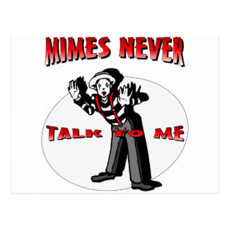 Everybody Loves A Mime Postcard
