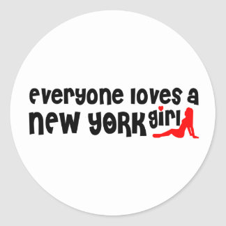 Everybody loves a New York Girl Classic Round Sticker