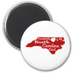 Everybody Loves a North Carolina Girl Red 2 Inch Round Magnet