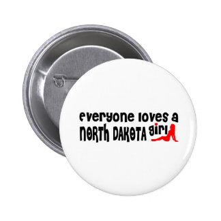 Everybody loves a North Dakota Girl Button