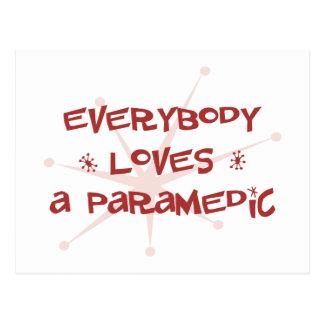 Everybody Loves A Paramedic Postcard