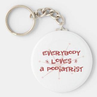 Everybody Loves A Podiatrist Keychain