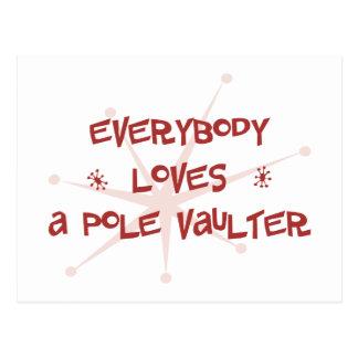 Everybody Loves A Pole Vaulter Postcard