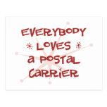 Everybody Loves A Postal Carrier Postcard