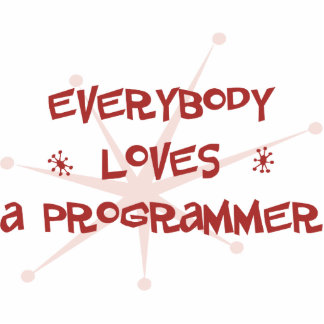 Everybody Loves A Programmer Photo Sculpture Ornament