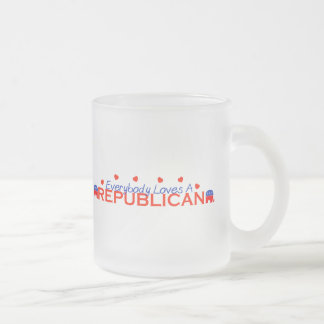 Everybody Loves A Republican Frosted Glass Coffee Mug