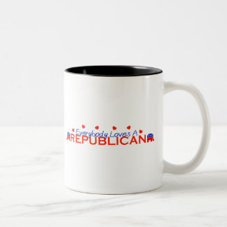 Everybody Loves A Republican Two-Tone Coffee Mug