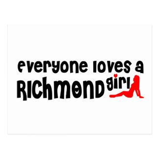 Everybody loves a Richmond Hill Girl Postcard