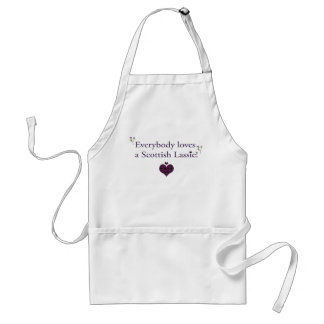 Everybody loves a Scottish lassie! Adult Apron