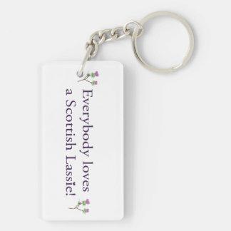 Everybody loves a Scottish lassie! Keychain