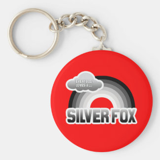 Everybody Loves a Silver Fox Basic Round Button Keychain