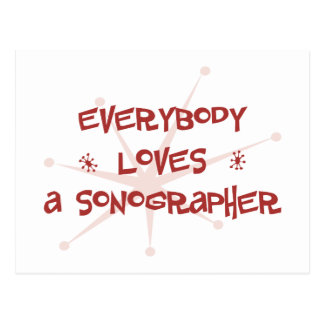 Everybody Loves A Sonographer Postcard