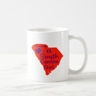 Everybody Loves a South Carolina Girl Orange and P Coffee Mug