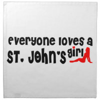 Everybody loves a St. John's Girl Cloth Napkin