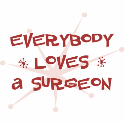 Everybody Loves A Surgeon Acrylic Cut Out