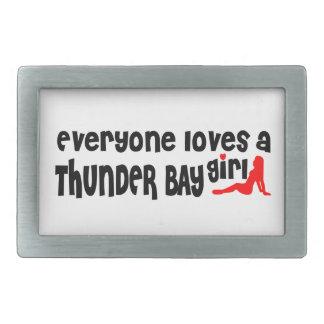 Everybody loves a Thunder Bay Girl Rectangular Belt Buckle