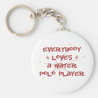 Everybody Loves A Water Polo Player Keychain