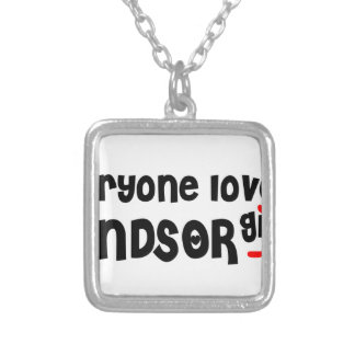Everybody loves a Windsor Girl Silver Plated Necklace