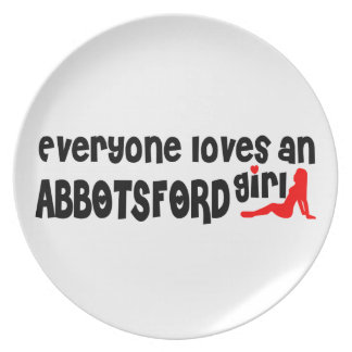 Everybody loves an Abbotsford Girl Melamine Plate