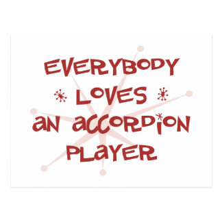 Everybody Loves An Accordion Player Postcard