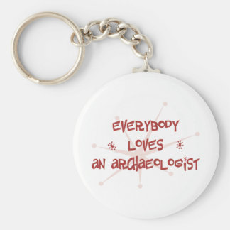 Everybody Loves An Archaeologist Basic Round Button Keychain