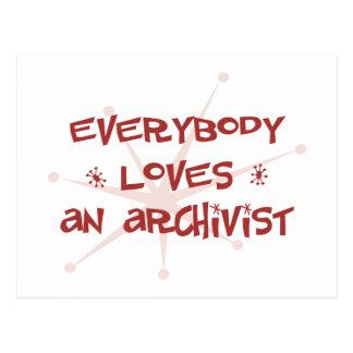 Everybody Loves An Archivist Postcard