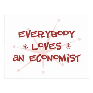 Everybody Loves An Economist Postcard