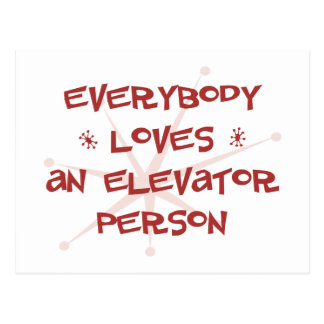 Everybody Loves An Elevator Person Postcard