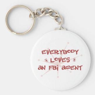 Everybody Loves An FBI Agent Keychain