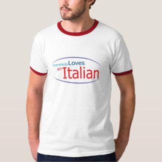 Everybody Loves an Italian Mens Ringer T-Shirt
