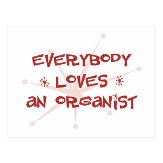 Everybody Loves An Organist Postcards