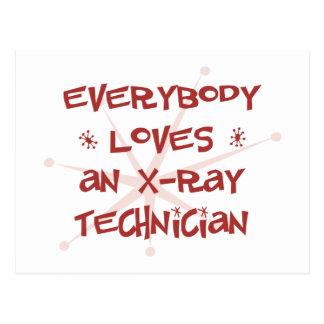 Everybody Loves An X-Ray Technician Postcard