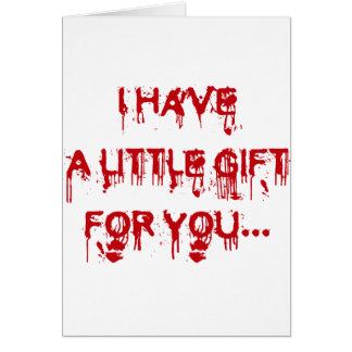Everybody loves blood greeting card