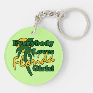Everybody Loves Florida Girls Keychain