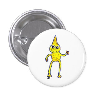 Everybody loves friendly aliens! pinback button