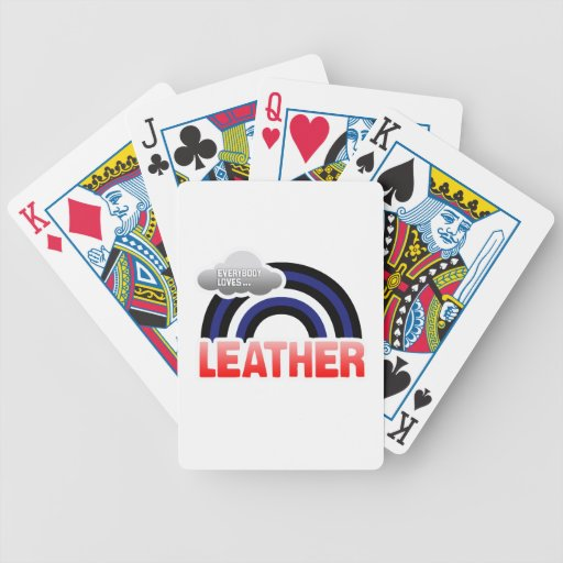 EVERYBODY LOVES LEATHER BICYCLE PLAYING CARDS