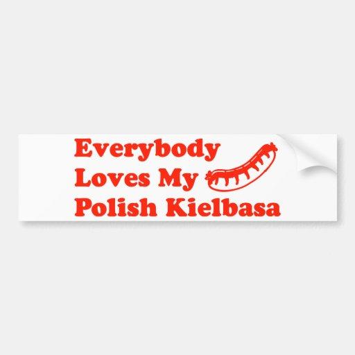 Everybody Loves My Polish Kielbasa Bumper Sticker
