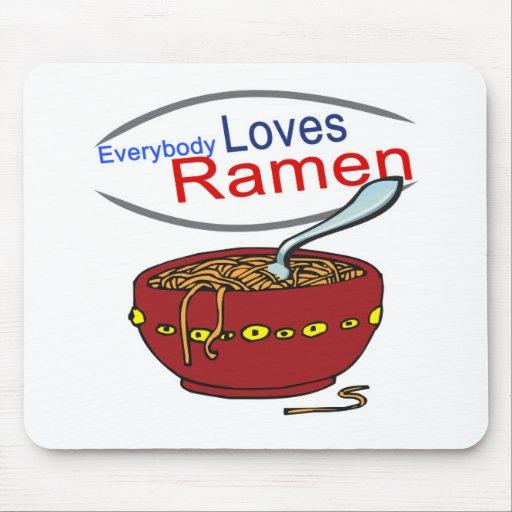 Everybody Loves Ramen Parody Mouse Pads