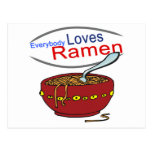Everybody Loves Ramen Parody Postcard