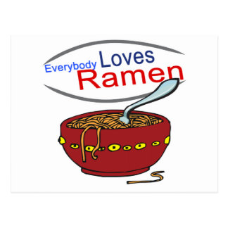 Everybody Loves Ramen Parody Postcard