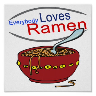 Everybody Loves Ramen Parody Poster