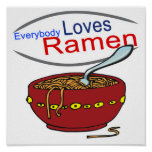Everybody Loves Ramen Parody Print