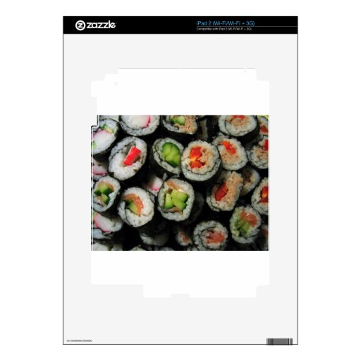 Everybody Loves Sushi! Decals For iPad 2