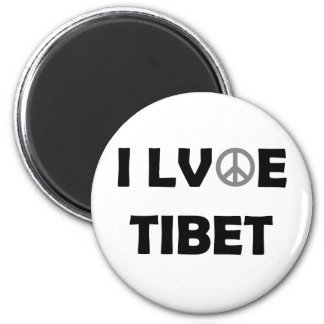 Everybody loves Tibet 2 Inch Round Magnet