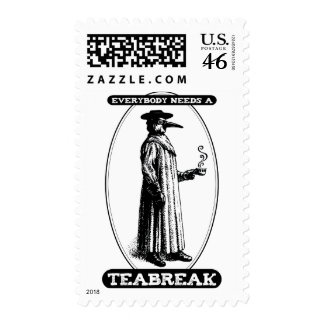 Everybody Needs A Teabreak Postage Stamp