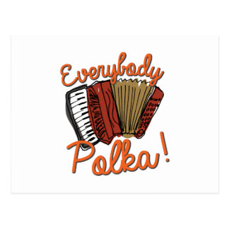 Everybody Polka! Postcard