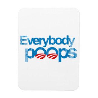 Everybody poops Faded png Vinyl Magnet