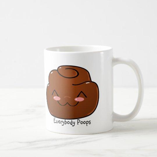 Everybody Poops Happy Poo Mug