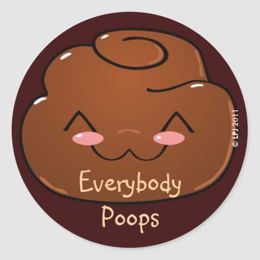 Everybody Poops Happy Poo Stickers