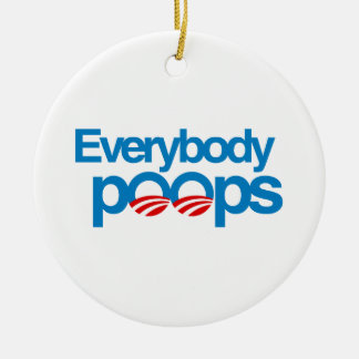 Everybody poops christmas ornament